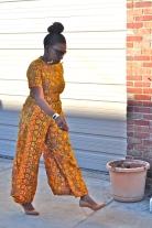 8. Flower jumpsuit